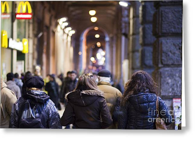 Streets of Bologna Greeting Card by Andre Goncalves