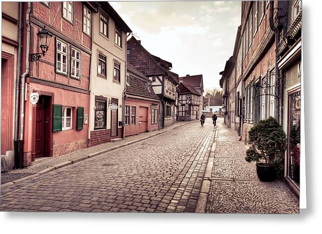 Tonemapping Greeting Cards - Streets of Quedlinburg Greeting Card by Steffen Gierok