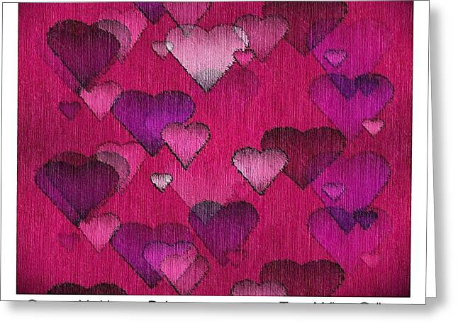 Striae Greeting Cards - Striae to My Heart ... Pinks Greeting Card by Terry Mulligan