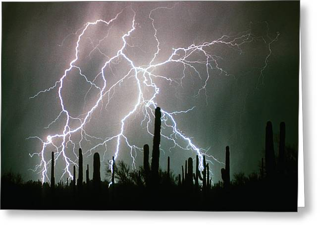Images Lightning Greeting Cards - Striking Photography Greeting Card by James BO  Insogna