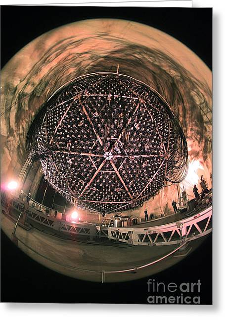 Geodesic Greeting Cards - Sudbury Neutrino Observatory Sno Greeting Card by Science Source