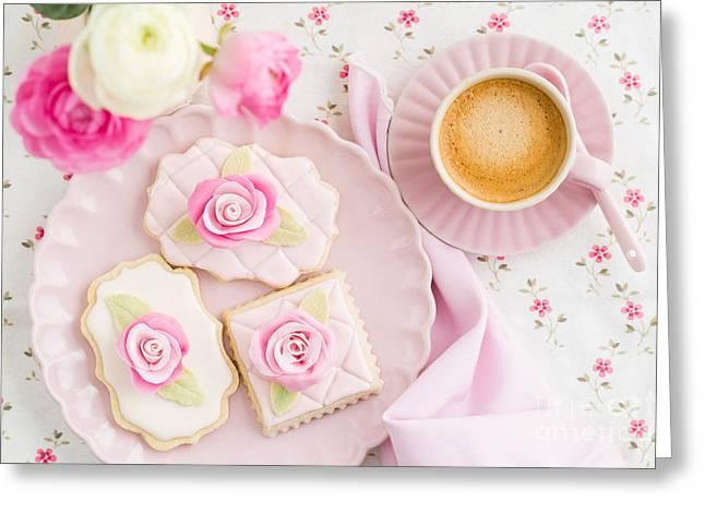 Floral Embellishment Greeting Cards - Sugar cookies Greeting Card by Elisabeth Coelfen