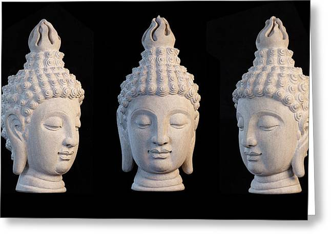 Serene Sculptures Greeting Cards - Sukhothai 31 Greeting Card by Terrell Kaucher