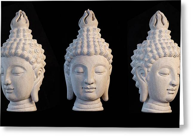 Serene Sculptures Greeting Cards - Sukhothai 32 Greeting Card by Terrell Kaucher