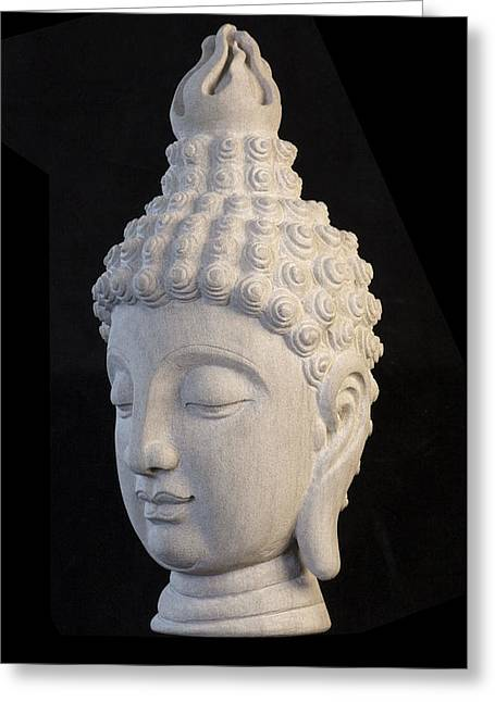 Serene Sculptures Greeting Cards - Sukhothai L Greeting Card by Terrell Kaucher