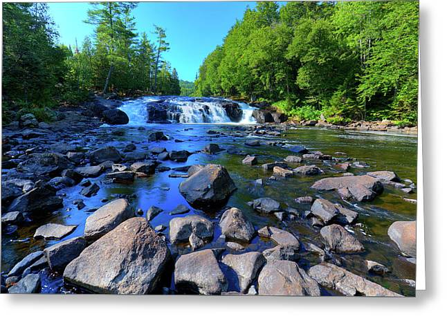 Summer At Buttermilk Falls Greeting Card by David Patterson