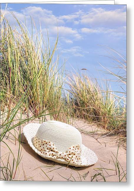 Sun Hat Greeting Cards - Summer At The Sea Greeting Card by Joana Kruse