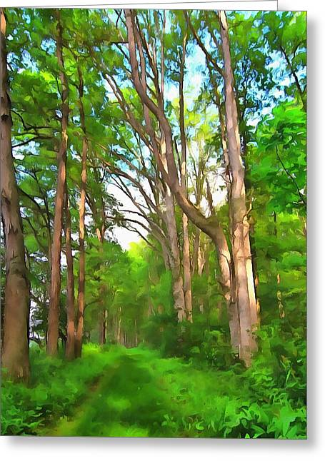 Hike Mixed Media Greeting Cards - Summer Escape Greeting Card by Dan Sproul