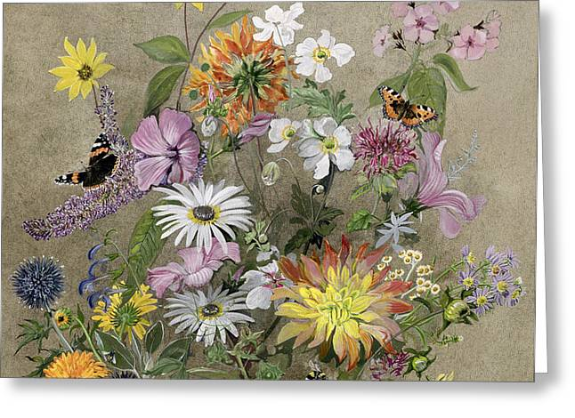 Summer Flowers Greeting Card by John Gubbins