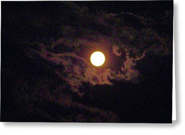 Rural Maine Roads Photographs Greeting Cards - Summer Moon Greeting Card by Allen Foley
