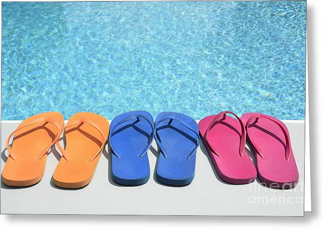 Pairs Greeting Cards - Summer Shoes Greeting Card by Birgit Tyrrell