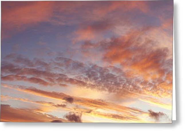 Abstract Nature Greeting Cards - Summer sky Greeting Card by Les Cunliffe