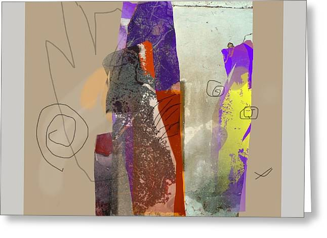 Abstract Handbag Drawing Greeting Cards - Summer Slumber 2 Greeting Card by Janis Kirstein