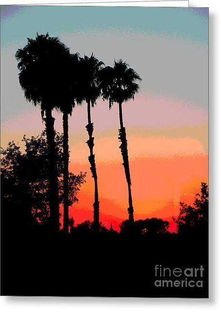 Sunset Posters Greeting Cards - Summer Sunset Greeting Card by B Campbell