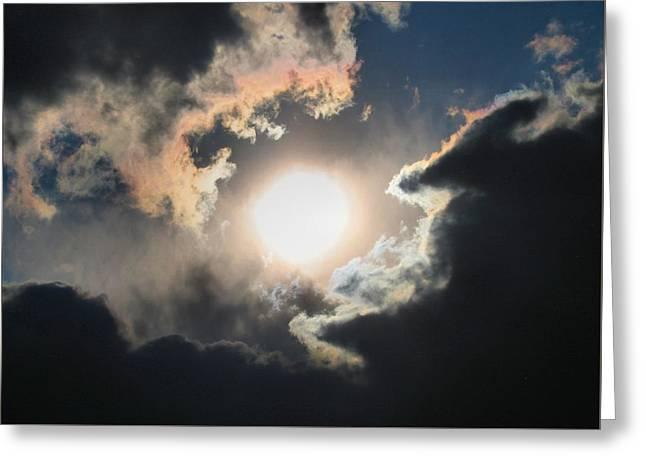Sun Breaking Through Greeting Card by Kathryn Meyer