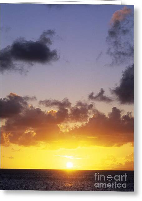 Gradations Greeting Cards - Sun Over Horizon Greeting Card by Carl Shaneff - Printscapes