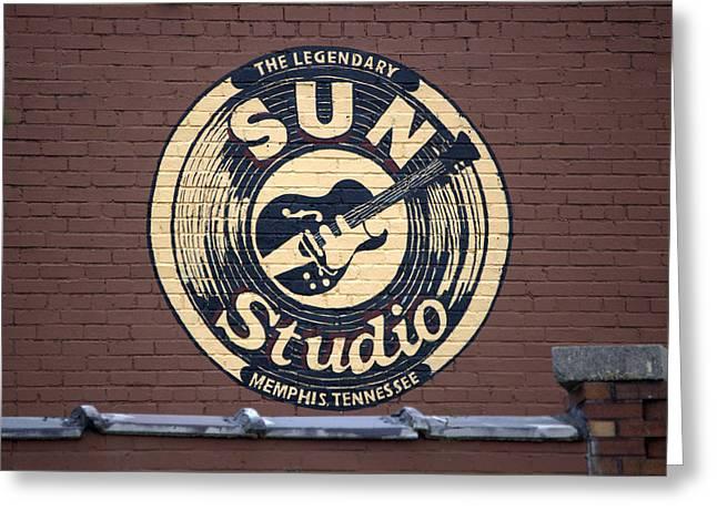 Sun Studios Greeting Cards - Sun Studio Memphis Tennessee Greeting Card by Wayne Higgs