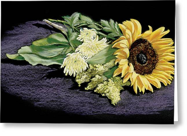Sunflower Greeting Card by Vanda Luddy