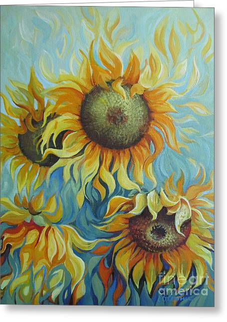 Nature Greeting Cards - Sunflowers Greeting Card by Elena Oleniuc