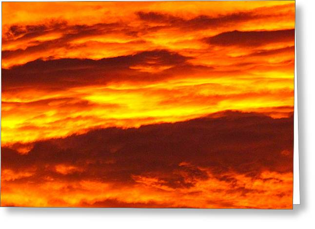 Greeting Cards - Sunrise 6.30  Greeting Card by Joyce Woodhouse