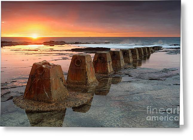 Geology Photographs Greeting Cards - Sunrise at Coledale Greeting Card by Leah-Anne Thompson