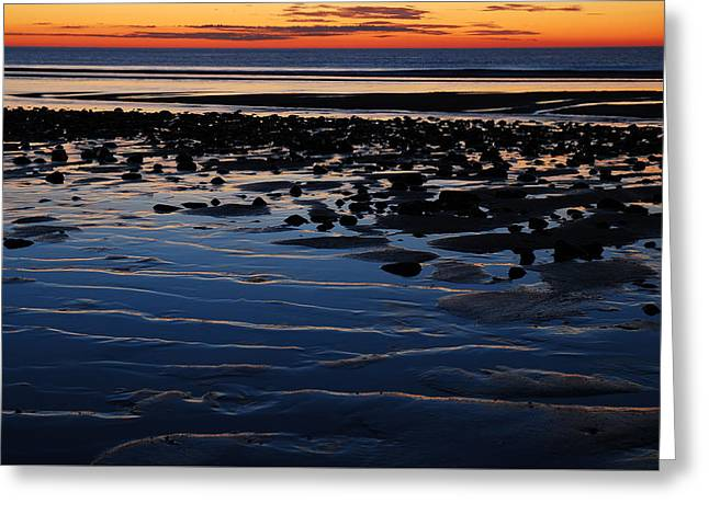 Marconi Beach Greeting Cards - Sunrise at the Shore Greeting Card by James Kirkikis