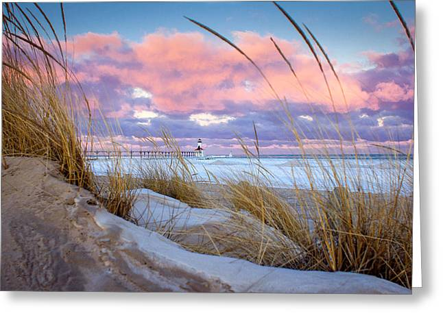Sunrise In Michigan City Greeting Card by Jackie Novak