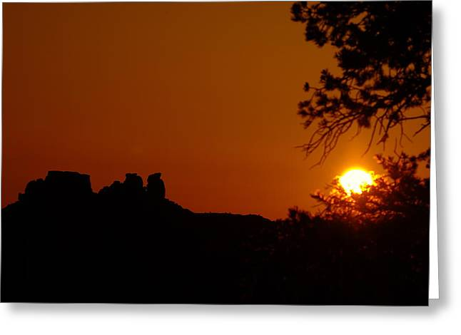 Stones Greeting Cards - Sunrise near Moab Greeting Card by Jeff  Swan