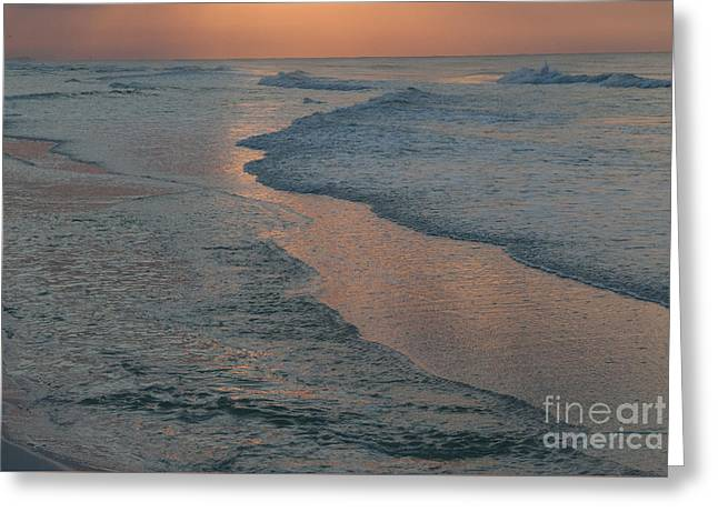 Beach Photos Greeting Cards - Sunrise on Destin Beach Greeting Card by Lowell Anderson