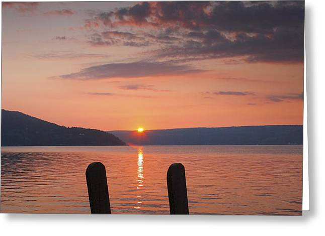 Sunrise Over Keuka V Greeting Card by Steven Ainsworth
