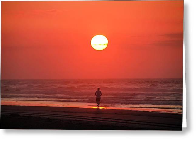 Sunrise Run Greeting Card by Bill Cannon