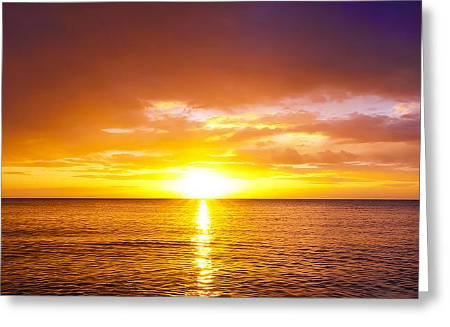 Magneta Greeting Cards - Sunrise Greeting Card by Svetlana Sewell