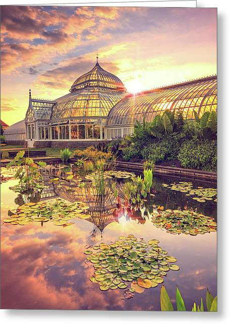 Sunset At Phipps Conservatory Greeting Card by Emmanuel Panagiotakis