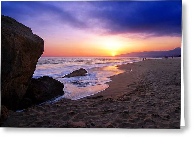 Recently Sold -  - Ocean. Reflection Greeting Cards - Sunset at Pt. Dume Greeting Card by Ron Regalado