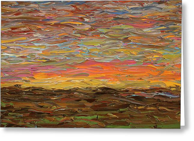 Gogh Greeting Cards - Sunset Greeting Card by James W Johnson