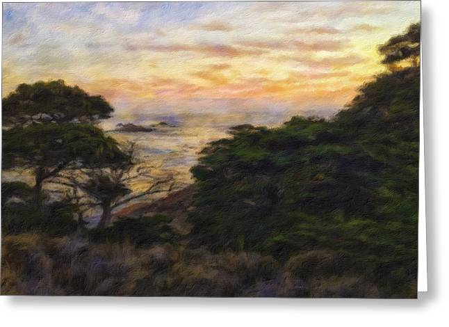 California Beaches Greeting Cards - Sunset Greeting Card by Jonathan Nguyen