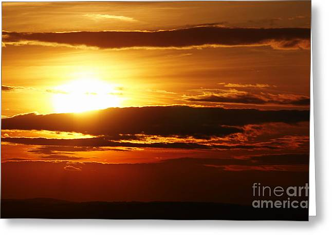 Gloaming Photographs Greeting Cards - Sunset Greeting Card by Michal Boubin