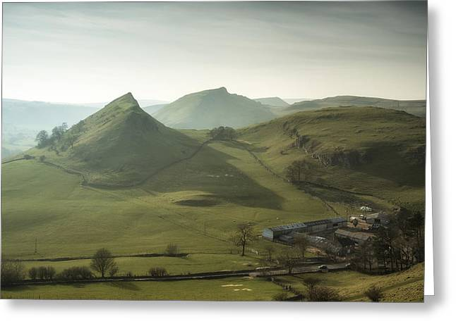 Peak District National Park Greeting Cards - Sunset over Parkhouse Hill  Greeting Card by Matthew Gibson