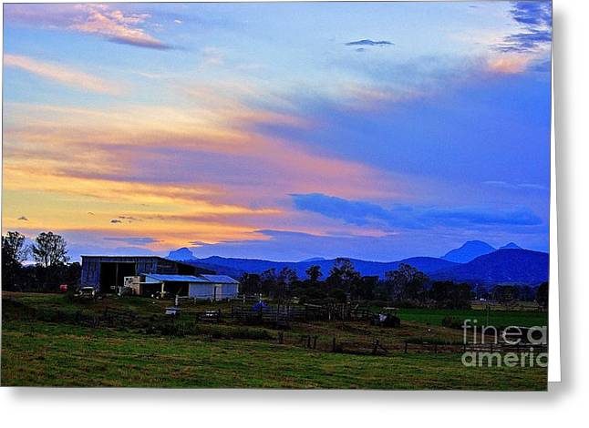 Recently Sold -  - Grey Clouds Greeting Cards - Sunset over the Great Divide Greeting Card by Blair Stuart