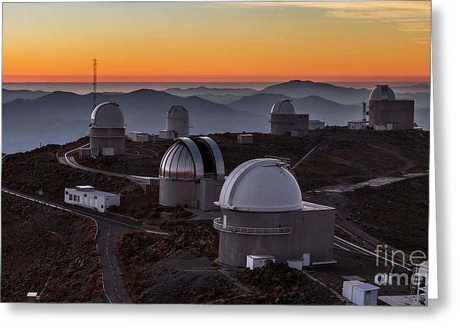 Sunset Over The La Silla Observatory Greeting Card by Babak Tafreshi