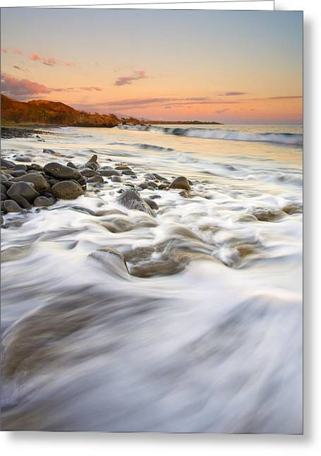 Lahaina Photographs Greeting Cards - Sunset Tides Greeting Card by Mike  Dawson