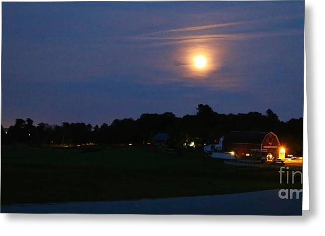 Moonrise Greeting Cards - Super Moon  Greeting Card by Colleen Mars