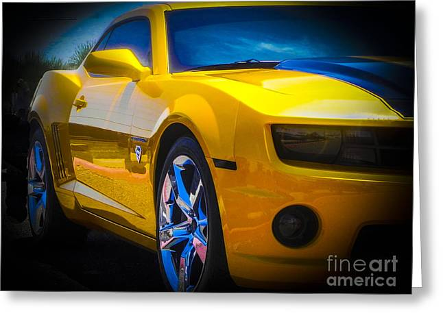 Tricked-out Cars Greeting Cards - Superman Camaro Greeting Card by Chuck Re