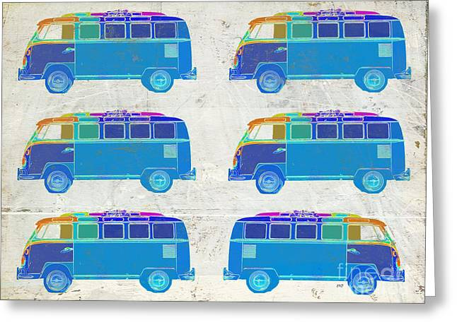 Surfing Art Greeting Cards - Surfer Vans  Greeting Card by Edward Fielding