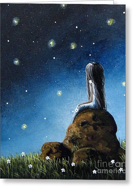 Precious Moment Greeting Cards - Surreal Art Print by Shawna Erback Greeting Card by Shawna Erback