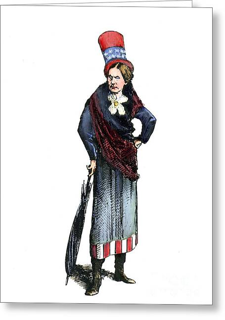 Reformer Greeting Cards - Susan B. Anthony (1820-1906) Greeting Card by Granger