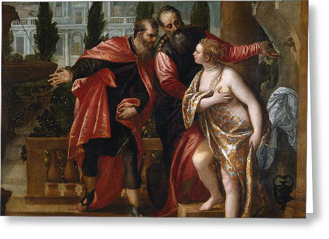 Susannah And The Elders Greeting Card by Paolo Veronese