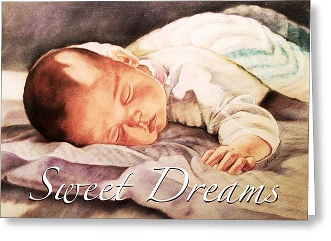 Lighting Pastels Greeting Cards - Sweet Dreams Greeting Card by Mary Fanning