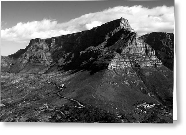Cape Town Greeting Cards - Table Mountain - Cape Town Greeting Card by Aidan Moran