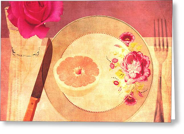 Tablescape Greeting Card by Lisa Noneman